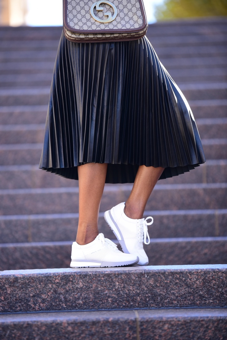 Image result for sneakers with pleated skirt